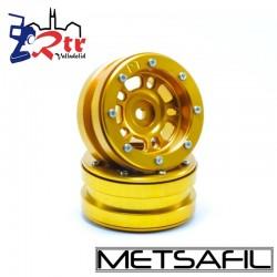 Llantas 1.9 beadlock Metsafil PT-Distractor Oro/Oro (2 Unidades)