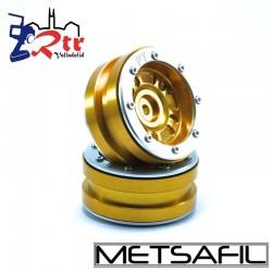Llantas 1.9 beadlock Metsafil PT-Distractor Oro/Plata (2 Unidades)