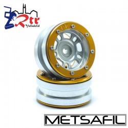Llantas 1.9 beadlock Metsafil PT-Distractor Plata/Oro (2 Unidades)
