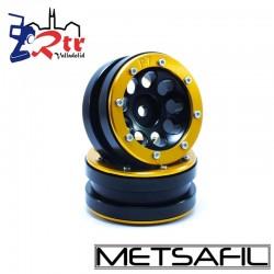 Llantas 1.9 beadlock Metsafil PT-Ecohole Negro/Oro (2 Unidades)