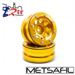 Llantas 1.9 beadlock Metsafil PT-Ecohole Oro/Oro (2 Unidades)