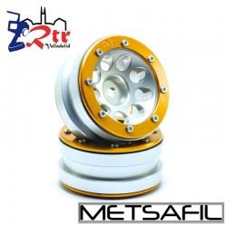 Llantas 1.9 beadlock Metsafil PT-Ecohole Oro/Plata (2 Unidades)