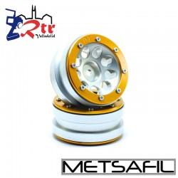 Llantas 1.9 beadlock Metsafil PT-Ecohole Plata/Oro (2 Unidades)