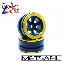 Llantas 1.9 beadlock Metsafil PT-Claw Negro/Oro (2 Unidades)