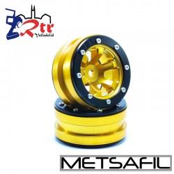 Llantas 1.9 beadlock Metsafil PT-Claw Oro/Negro (2 Unidades)