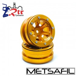 Llantas 1.9 beadlock Metsafil PT-Claw Oro/Oro (2 Unidades)
