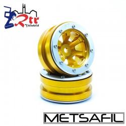 Llantas 1.9 beadlock Metsafil PT-Claw Oro/Plata (2 Unidades)