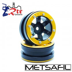 Llantas 1.9 beadlock Metsafil PT-Wave Negro/Oro (2 Unidades)