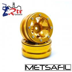 Llantas 1.9 beadlock Metsafil PT-Wave Oro/Oro (2 Unidades)