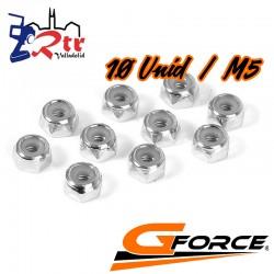 Tuercas hexagonales Seguridad M5 Galvanizadas 10 Unidades