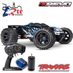 Traxxas E-Revo VXL 2.0 Brushless 6s TSM 1/10 Monster Truck Truggy Azul