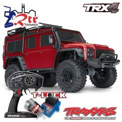 Traxxas TRX-4 4wd 1/10 Scale & Trail Crawler Land Rover Defender Rojo