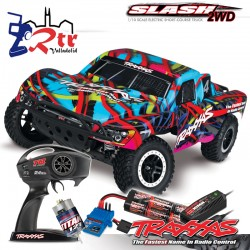 Traxxas Slash 2wd Short Course Escobillas Bat+Carg Hawaii