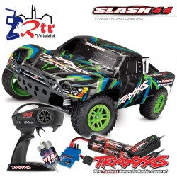 Traxxas Slash 4X4 Short Course Escobillas Bat+Carg Traxxas Slash 4X4 Short Course Escobillas Bat+Carg Verde