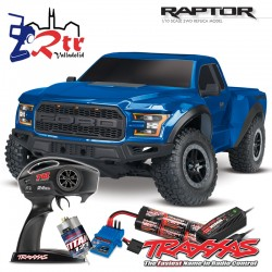 Traxxas Ford F-150 Raptor 2W Short Course Escobillas Azul