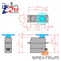 Micro Servo Spektrum Metálico Analógico SPMSSX107