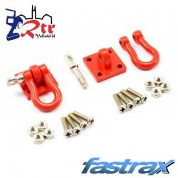 Grilletes de Metal Rojos y soporte de montaje 2pc Fastrax FAST2320R