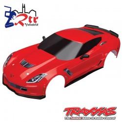 Carrocería Traxxas Chevrolet Corvette Z06 Rojo TRA8386A
