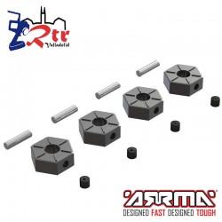Hexágonos de aluminio opcionales 12mm Arrma AR310816