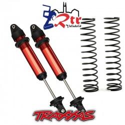 Amortiguadores Traxxas X-maxx Color Rojo TRA7761R TRA7766 2 Unidades Ensambladas