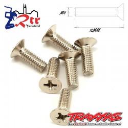 Tornillos Estrella 4x12mm 6 Unidades Traxxas TRA2548