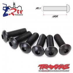 Tornillos Traxxas Hexagonales 2.5x8 mm 6 Unidades TRA2617