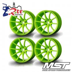 Llantas Verdes G25 MST Outset +8mm (4 Unidades) MST102053AG