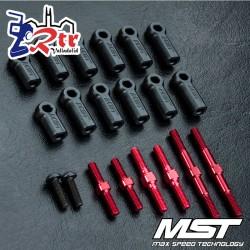 Conjunto de eje tensor RMX 2.0 S (rojo) MST MST210595R