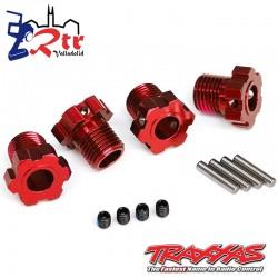 Hexagonos Estriados 17mm Traxxas TRA8654R Rojos