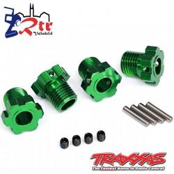Hexágonos Estriados 17mm Traxxas TRA8654G Verdes
