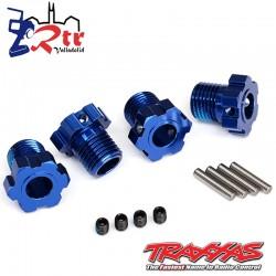 Hexágonos Estriados 17mm Traxxas TRA8654 Azules