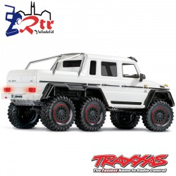 Traxxas TRX-6 6wd 1/10 Scale & Trail Crawler Mercedes G63 AMG Blanco