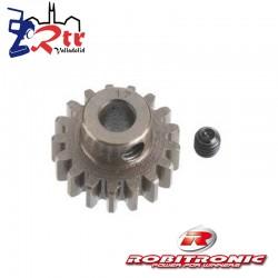 Piñon Robitronic 17T Dientes Mod 1 Eje 5mm RW1017