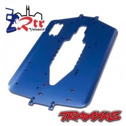 Chasis, T-Maxx, batalla larga TRA5122X Aluminio Azul