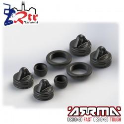 Tapas 4, cierres2 y collar 2 de amortiguadores AR330337