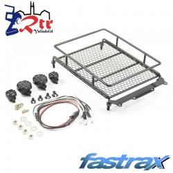 Portaequipajes de aluminio negro Fastrax con lámparas LED L165 mm X W112 mm