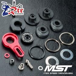 Brazos de servo aluminio ajustable de 8 vías rojo MST MST820127R