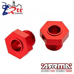Hexágonos 17mm Aluminio Rojo Arrma AR330359
