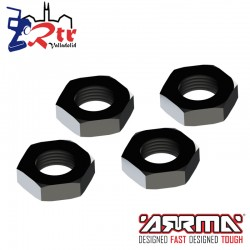 Tuerca Hexagonal Aluminio Negra Arrma AR310449