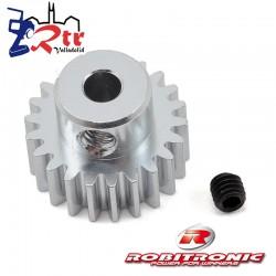 Piñon 22t Modulo 0.6 eje 3.2 mm Robitronic