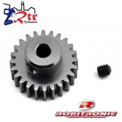 Piñon 24t Modulo 0.6 eje 3.2 mm Robitronic