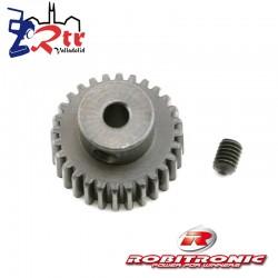 Piñon 28t Modulo 0.6 eje 3.2 mm Robitronic