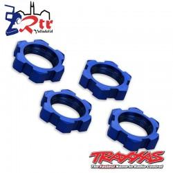 Tuercas de rueda estriadas 17 mm Traxxas Azul TRA7758