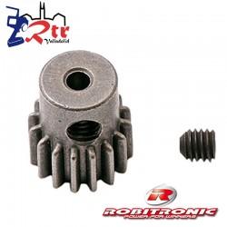 Piñon 17t Modulo 0.6 eje 3.2 mm Robitronic