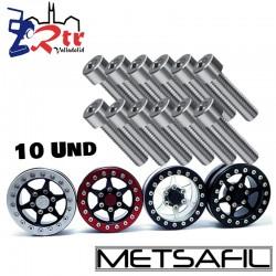 Tornillos de acero Inoxidable M2x8 (10 Unidades)