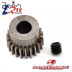Piñon 22t Dientes 48pich Pitch Eje 5mm