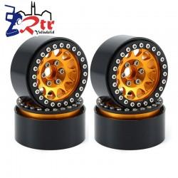 Llantas 1.9 aluminio Crawler beadlock 81gr cada una (4 Unidades)