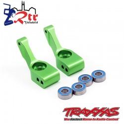 Soportes de eje corto Aluminio Rojo con rodamientos Traxxas TRA3652G
