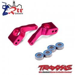 Soportes de eje corto Aluminio Rojo con rodamientos Traxxas TRA3652P