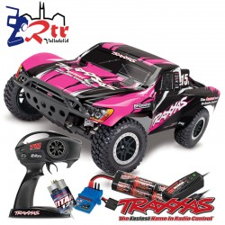 Traxxas Slash 2wd Short Course Escobillas Rosado (bat+carg)